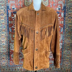 Iconic Leather Western Jacket With Fringe